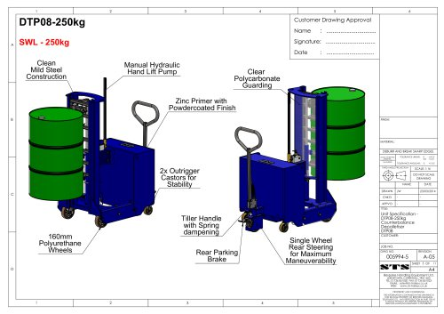 Drum Lifter (Counterbalance)-Technical Specification