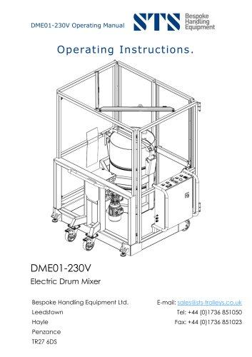 End-over-End 200-Litre Drum Mixer (Electric) - Instruction Manual