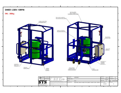 End-over-End 200-Litre Drum Mixer (Electric) - Technical Specification