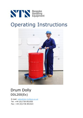Oil Drum Dolly - Operation Manual