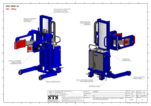 Power Clamp Drum Tipper (Pneumatic) - Technical Specification