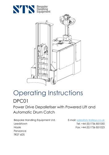 Powered Drum Handler - Operation Manual