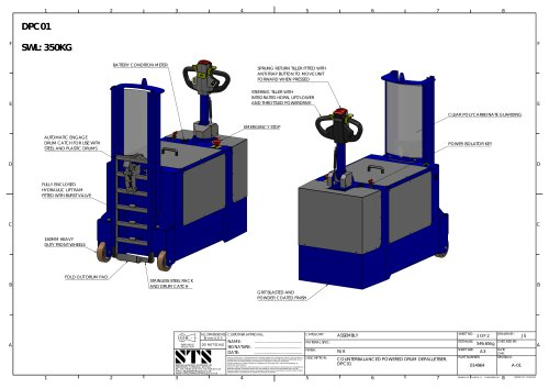 Powered Drum Handler- Technical Specification