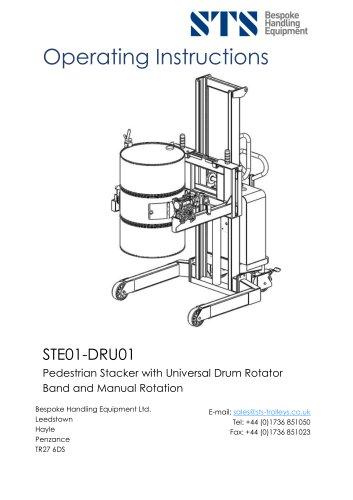 Universal Drum Rotator (Electric)- Operation Manual