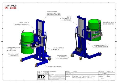 Universal Drum Rotator (Manual) Technical Drawings