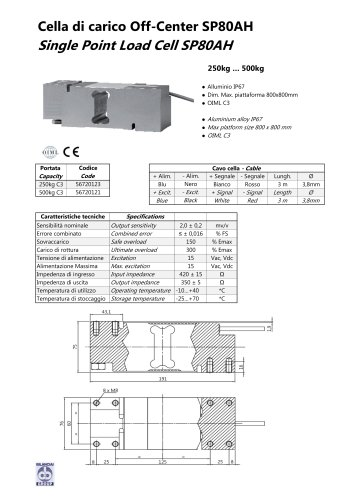 Aluminium load cell SP 80AH plate 80x80
