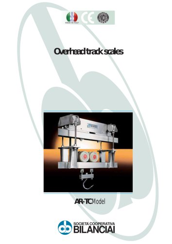 AR/TC (300-1,000 kg) overhead weighing unit in stainless steel with two stainless steel load cells