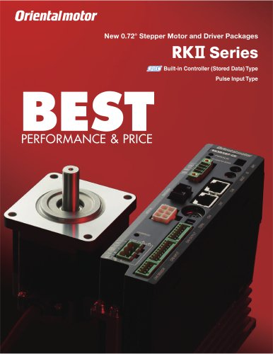 0.72°/Geared Stepper Motor and Driver, RKII Series*