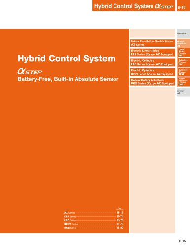 Hybrid Control System Battery-Free, Built-in Absolute Sensor