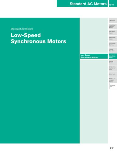 SMK Series Low-Speed Synchronous Motors