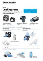 Fan Lineup - Axial Flow Fans, Centrifugal Blowers and Cross Flow Fans