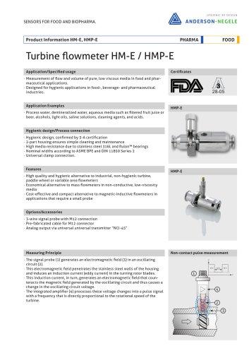 HMP-E Flow Sensors
