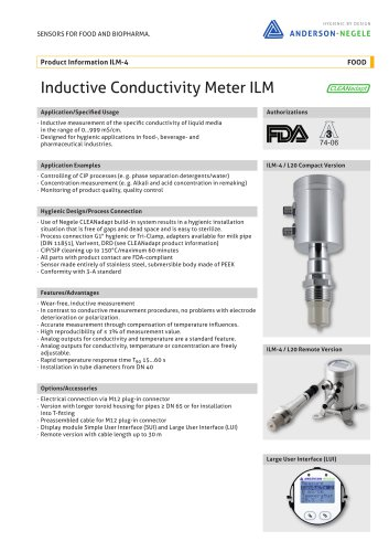 ILM-4 Conductivity Sensors