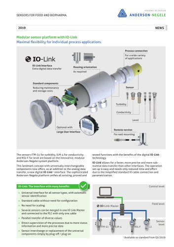 Modular sensor platform with IO-Link
