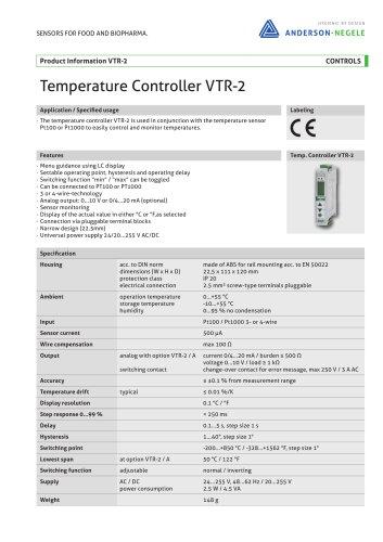 Temperature Controller VTR-2