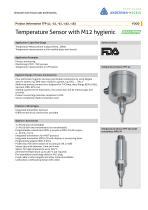 TFP-42, -52, -62, -162, -182 Temperature Sensor with M12 hygienic - 1