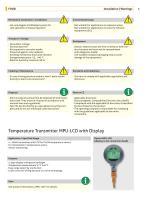 TFP-42, -52, -62, -162, -182 Temperature Sensor with M12 hygienic - 6