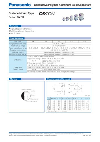 Conductive Polymer Aluminum Solid Capacitors
