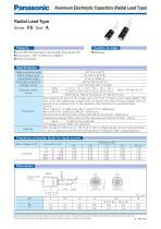 EEU-FS Series Radial Leaded Aluminum Electrolytic Capacitors