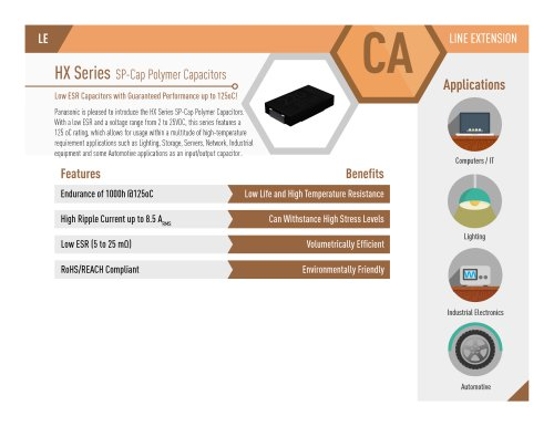 HX Series SP-Cap Polymer Capacitors