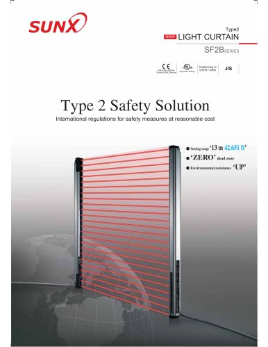 light curtain sf2b series catalog