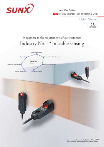 rectangular inductive proximity sensor gx-f/h series catalog