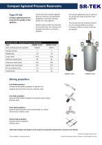 Compact agitated pressure tanks