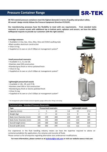 GENERAL PRESSURE CONTAINERS
