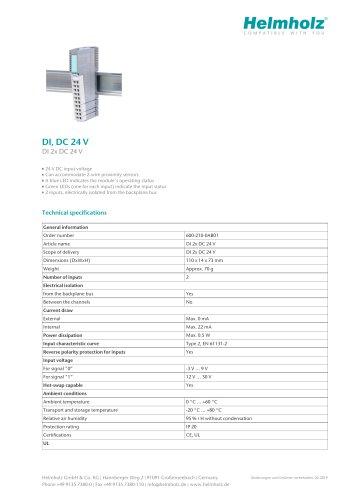 DI 2x DC 24 V