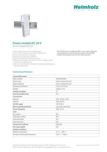 Power module DC 24 V