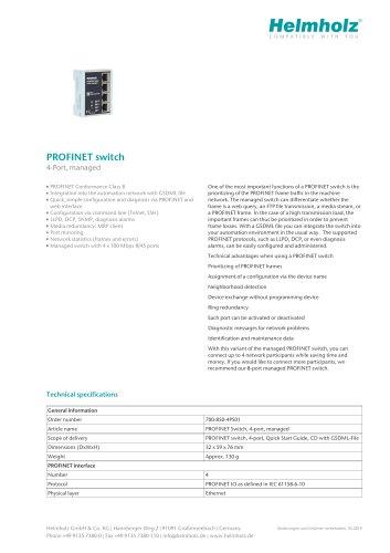 PROFINET switch 4-Port, managed