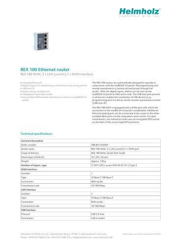 REX 100 Ethernet router