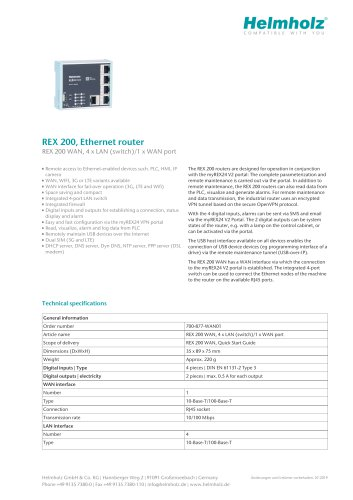 REX 200, Ethernet router