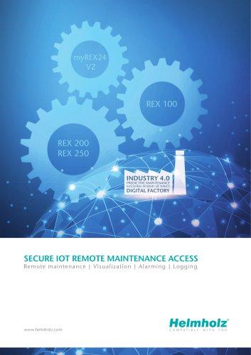 SECURE IOT REMOTE MAINTENANCE ACCESS - Remote maintenance   Visualization   Alarming   Logging