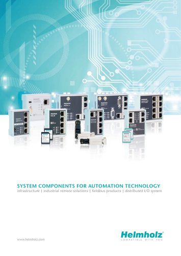 SYSTEM COMPONENTS FOR AUTOMATION TECHNOLOGY - infrastructure | industrial remote solutions | fieldbus products | distributed I/O system
