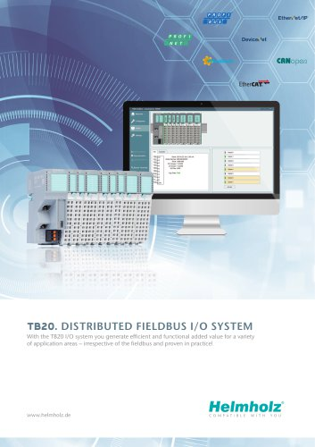 TB20. Distributed Fieldbus I/O System