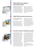 Overview vibrating screen - 2