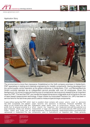 Measurement services for paper factories and hydroelectric