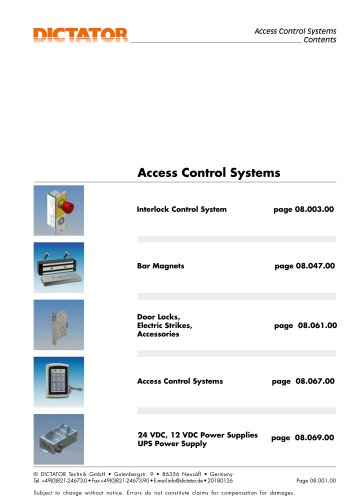 DICTATOR Access control systems