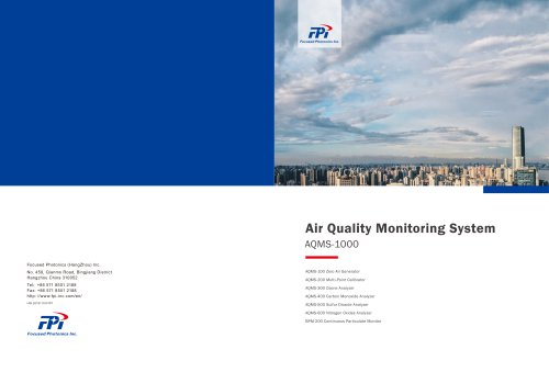 FPI AQMS-1000 Ambient air quality monitoring system