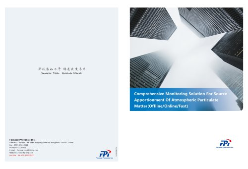 FPI Comprehensive Monitoring Solution for source appointment of atmospheric particulate matter (Offline/Online/Fast)