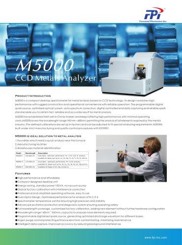 FPI M-5000 CCD Metals Analyzer  Fe, Al, Cu, Zn, Ni, Ti, Mg, Sn, Pb and Co