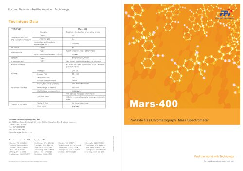 FPI Mars-400 Portable Gas Chromatograph-Mass Spectrometer