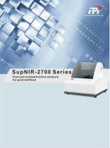 FPI SuperNIR-2700 Series Fast and nondestructive analysis for grain, food, oil