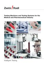 Testing Machines and Testing Systems for the Medical and Pharmaceutical Industry