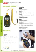V&A Thermometer /Luxmeter MS6500/MS6501/MS6610 Environmental testing
