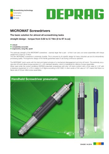 MICROMAT Control Screwdrivers