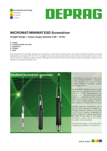 MICROMAT / MINIMAT-ESD-Screwdrivers straight handle design