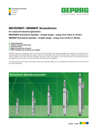MICROMAT / MINIMAT Screwdrivers
