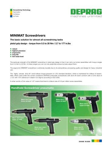 MINIMAT Control Screwdrivers pistol grip design